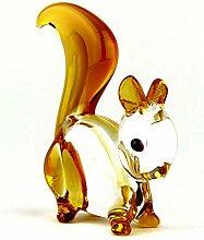 Eichhörnchen aus Glas, Glastier, Glasfigur,