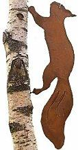 Eichhörnchen; Baumstecker; 49 cm; Metall, Rost;