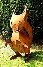 Eichhörnchen Eisen/Rost Gartendeko Eisentier,