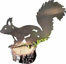 Eichhörnchen (groß, Edelstahldeko)