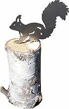 Eichhörnchen (klein, Edelstahldeko)