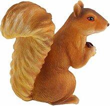 Eichhörnchen mit Nuß Figur Dekofigur