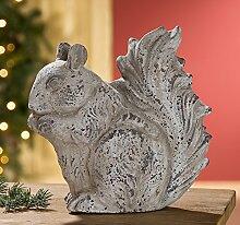 Eichhörnchen Terracotta antik-grau Höhe 25,5 cm,