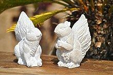 Eichhörnchenpaar,sitzend,grau,schöne Gartendeko,ca.17cm hoch