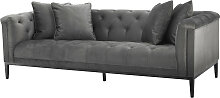 EICHHOLTZ Cesare Design Sofa 231 cm, Granitgrau