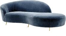 EICHHOLTZ Khan Sofa 248 cm, Cameron blau