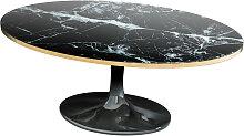EICHHOLTZ Parme Couchtisch oval 120 cm, schwarzer