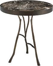 EICHHOLTZ Veritas Beistelltisch, Bronze & Marmor