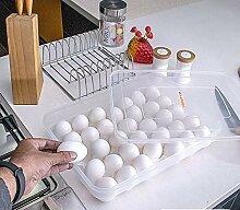 Eierbox aus Kunststoff für 34 Eier mit Deckel,