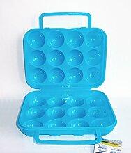 EIERBOX für 12 Eier BLAU Eierdose Eieraufbewahrung Vorratsdose Behälter 74
