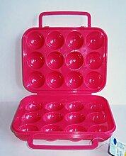 EIERBOX für 12 Eier PINK Eierdose Eieraufbewahrung Vorratsdose Behälter 74