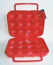 EIERBOX für 12 Eier ROT Eierdose Eieraufbewahrung Vorratsdose Behälter 74