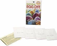 Eierfarbe - 4 naturliche Ostereier Kaltfarben