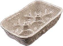 Eierhalter, Aufbewahrung für 6 Eier, Keramik, beige, 15 x 11 x 6 cm (19,95 EUR / Stück)