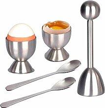 Eierkasserolle Eieröffner Hochwertiger Edelstahl