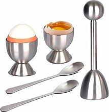 Eierknacker-Ausstecher-Set, ZZM hartgekochte