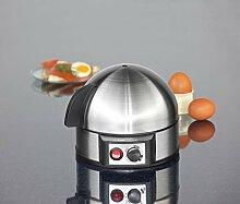 Eierkocher in edlem Design, bis zu 7 Eier, Elektronische Härtegradeinstellung, Akkustisches Signal, Edelstahl Gehäuse + Heizplatte, Messbecher, NEU + OVP