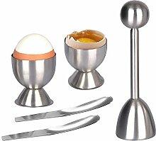 Eierschneider Topper Set, Edelstahl gekocht