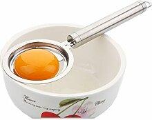 Eiertrenner, Edelstahl, langer Griff und erhöhter