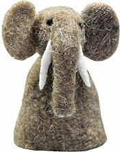 Eierwärmer aus Filz [ Elefant ] für den