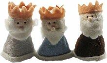 Eierwärmer-Set Heilige Drei Könige 3-tlg. Filz