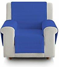 Eiffel Textile fsa0005Gepolsterte Sofa 1Platz, Baumwolle, Blau und Türkis, 55x 195x 2cm