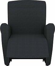 Eiffel Textile Lille Schutzhülle Sofa Sessel (nur Sofabezug) 55 x 195 x 2 cm Schwarz