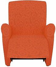 Eiffel Textile Nantes Schutzhülle Sofa Sessel 190 x 195 x 2 cm orange