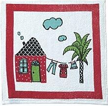 Eiffel Textile Set bedruckte Geschirrtücher Küche House, Baumwolle, mehrfarbig, 50x 50x 10cm, 3Stück