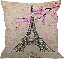 Eiffelturm Dekor Dekokissen Abdeckung Fall,Vintage