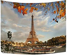Eiffelturm mit Autumn leaves in Paris Frankreich
