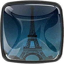 Eiffelturm Monument quadratische Knäufe