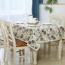 Eiffelturm Tischdecke aus Reiner baumwolle Anti-fouling Dekorative Hotel Couchtisch esstisch Geschirr staub tuch , 140*180cm