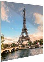 Eiffelturm von der Seine - Foto auf Plexiglas -