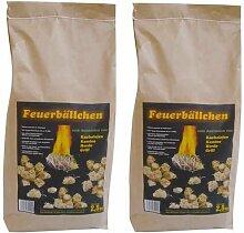 EiFi Feuerbällchen Anzünder, Braun, 5 kg