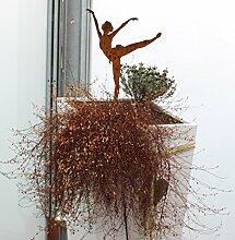 Eigenmarke Dekoration Metall rostig Ballerina 2