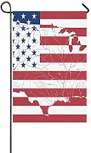 EIJODNL Dekorative Außenflagge mit USA-Flagge,