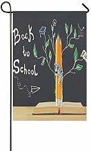 EIJODNL Dekorative Doppelseitiges Back to School