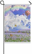 EIJODNL Dekorative Garten-Flagge, doppelseitig,