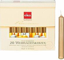 Eika 24 Packungen Ceresin Baumkerzen gold, 20er