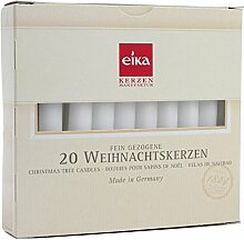 Eika Christbaumkerze, weiß, Ø 1,25x10,5cm, 20