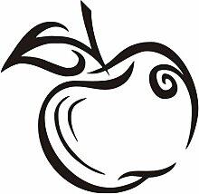 Ein apple muster wandaufkleber wohnkultur