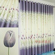Ein Fenster des pastoralen vorhang rosa tulpen - Schatten - tuch vorhang hergestellt schlafzimmer und balkon
