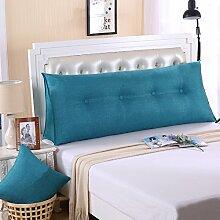 Ein großes Kissen, weicher Baumwolle Sommer Dreieck taille Kissen Bett Büro neckguard Cushion Sofa, 120 x 50 x 20 cm, blau
