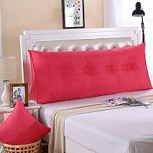 Ein großes Kissen, weicher Baumwolle Sommer Dreieck taille Kissen Bett Büro neckguard Cushion Sofa, 200 x 50 x 20 cm, Wassermelone ro