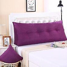 Ein großes Kissen, weicher Baumwolle Sommer Dreieck taille Kissen Bett Büro neckguard Cushion Sofa, 150 x 50 x 20 cm, Viole