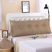 Ein großes Kissen, weicher Baumwolle Sommer Dreieck taille Kissen Bett Büro neckguard Cushion Sofa, 150 x 50 x 20 cm, leinen
