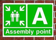 Ein HSE Schild Fire Assembly Point Gesundheit &