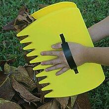 Ein Paar Groß Kunststoff Leaf Schaufeln, Laubgreifer Handrechen Laubsammler Garten Laubpicker for Pick up Blätter