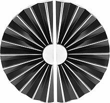 Ein paar Halbkreis Symmetrische Silber schwarze Zink-Legierung Möbelgriffe für Kommode Tür und Schrank mit 4 Schrauben
